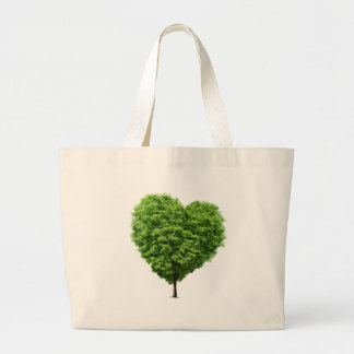 ecological heart tote bag