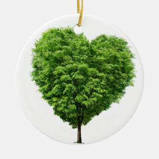 ecological heart ceramic ornament