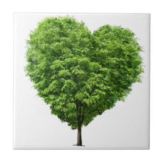 ecological heart small square tile