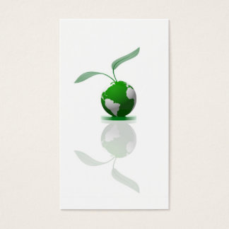 Ecological planet symbol business card