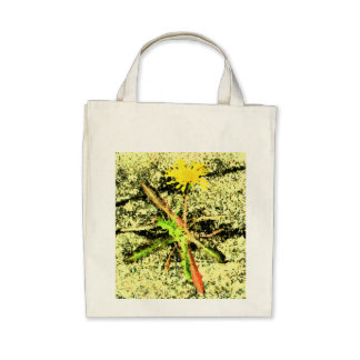 Ecological shopping bag with a dandelion