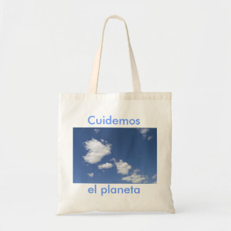 Ecological stock market sky and clouds tote bag
