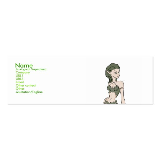 Ecological superhero business cards zazzle for Superhero business cards