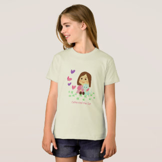 """Ecological T-shirt of """"Cathy and the Cat """""""