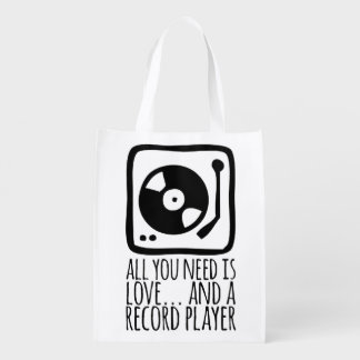 Ecological white bag (All you need IS love…) Reusable Grocery Bag