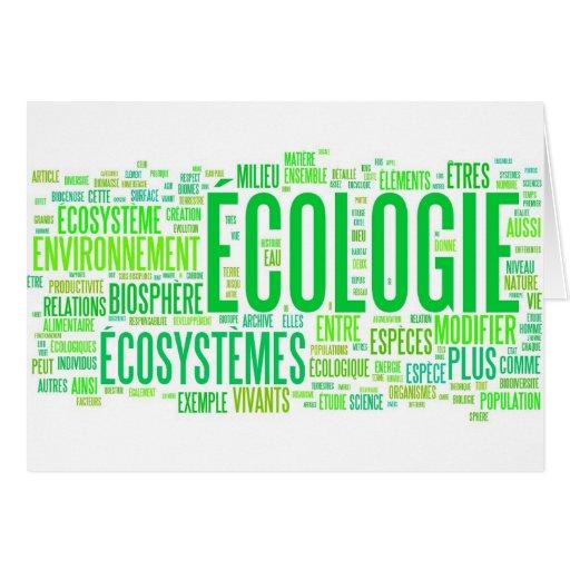 écologie tarjetas