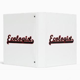 Ecologist Classic Job Design Vinyl Binders