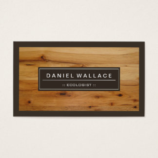 Ecologist - Classy Wood Grain Look Business Card