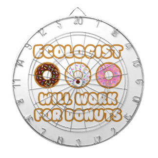Ecologist .. Will Work For Donuts Dart Board