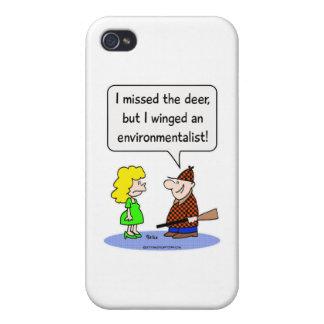 ecologista con alas ciervos iPhone 4/4S carcasas