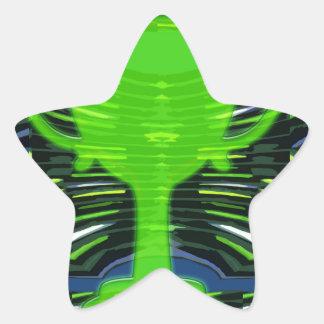 Ecologista del verde del trofeo del ganador pegatina en forma de estrella
