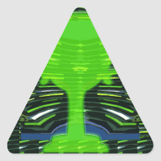 Ecologista del verde del trofeo del ganador pegatina triangular