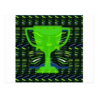 Ecologista del verde del trofeo del ganador postal