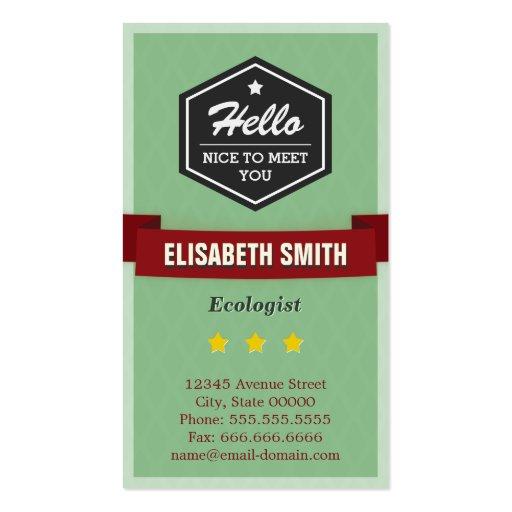 Ecologista - elegante retro del vintage plantillas de tarjetas personales