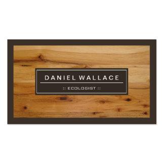 Ecologista - mirada de madera con clase del grano tarjetas de visita