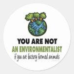 Ecologista = vegano, vegetariano etiqueta redonda