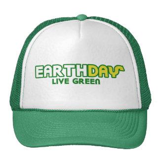 Ecologista verde vivo de la parodia del Día de la  Gorros Bordados