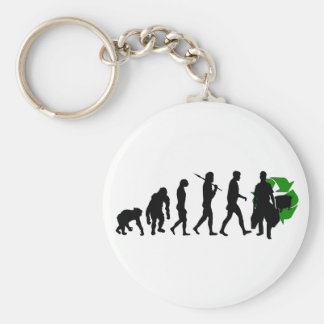 Ecologists environmental crusaders gear basic round button keychain