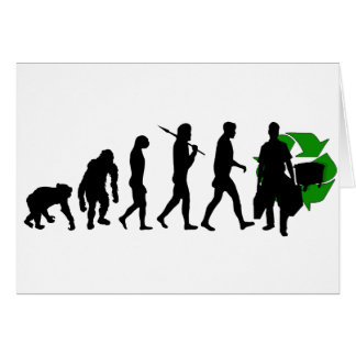 Ecologists environmental crusaders gear greeting card