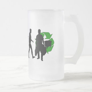 Ecologists environmental crusaders gear frosted glass beer mug