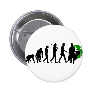 Ecologists environmental crusaders gear pinback button
