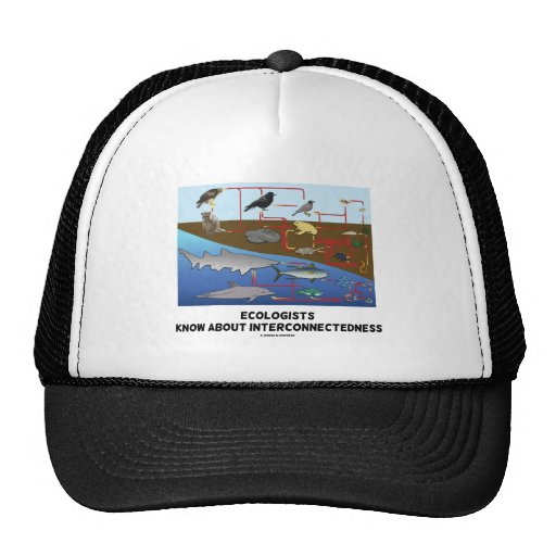Ecologists Know About Interconnectedness Food Webs Trucker Hat