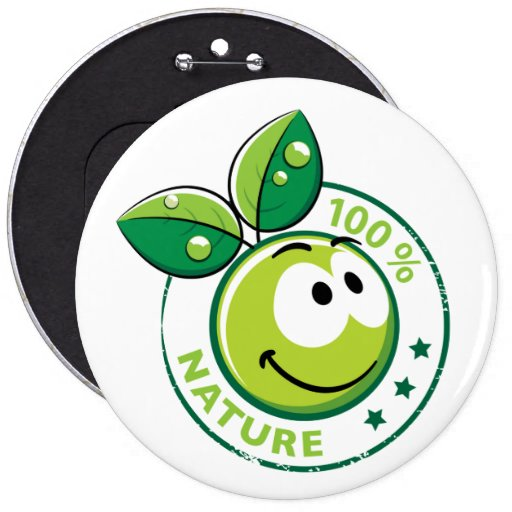 Ecology : 100 % nature - pinback button