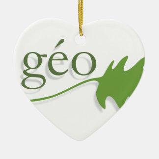 ecology ceramic ornament