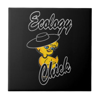 Ecology Chick #4 Small Square Tile