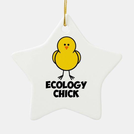 Ecology Chick Ceramic Ornament