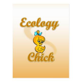 Ecology Chick Postcard