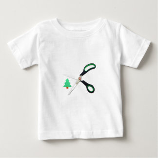 Ecology concept: paper tree being cut by scissors baby T-Shirt