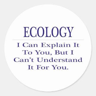 Ecology .. Explain Not Understand Classic Round Sticker