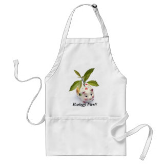 Ecology first! adult apron