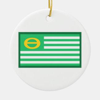 Ecology Flag Ceramic Ornament