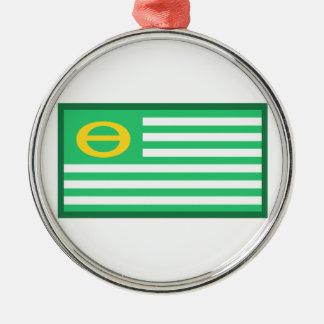 Ecology Flag Metal Ornament