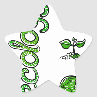 Ecology Green Saving the World Star Sticker