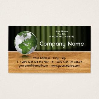 Ecology Green World Business Card