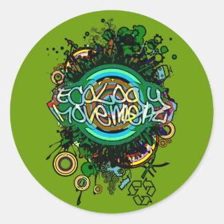 Ecology_Movement Classic Round Sticker