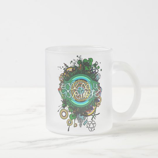 Ecology_Movement Frosted Glass Coffee Mug