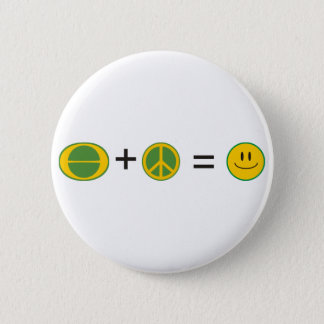 Ecology Peace Happiness Pinback Button