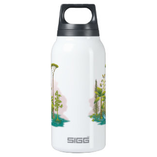 Ecology : plant a tree - 10 oz insulated SIGG thermos water bottle