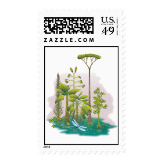 Ecology : plant a tree - postage stamps