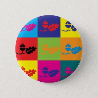 Ecology Pop Art Button