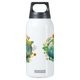 Ecology : recycle - 10 oz insulated SIGG thermos water bottle