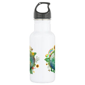Ecology : recycle - 18oz water bottle