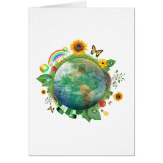Ecology : recycle - card