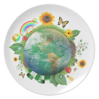 Ecology : recycle - plate