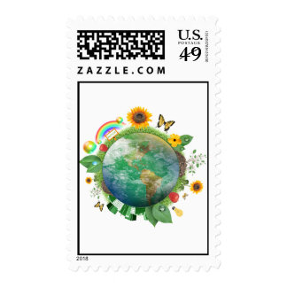 Ecology : recycle - stamp