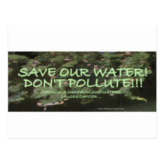 ECOLOGY SAVE OUR PLANET POSTCARD